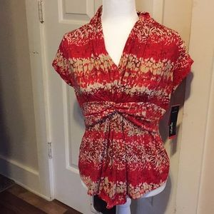 Rafaella form functioning scarlet combo top size M